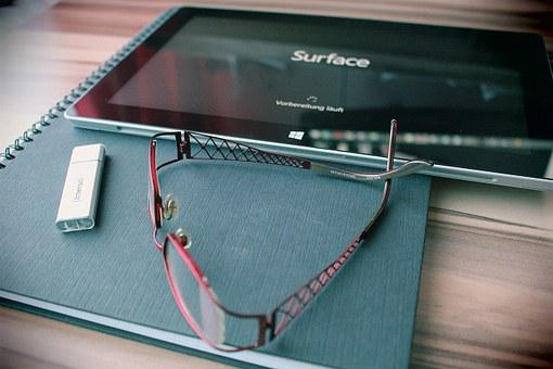 Reading Glasses, Usb Stick, Data Stick, Tablet, Glasses