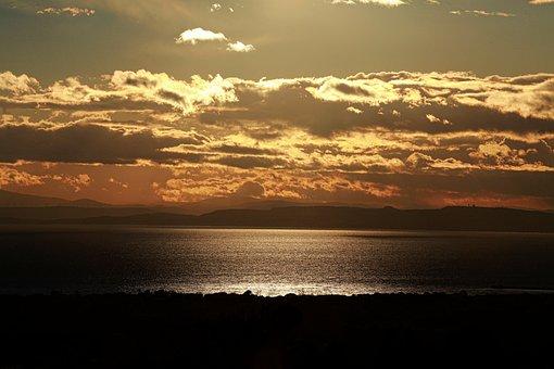 Sun, Lying, Sunset, Light, Clouds, Evening, Landscape