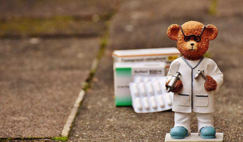 Bear, Profession, Doctor, Fig, Cute, Sweet, Funny