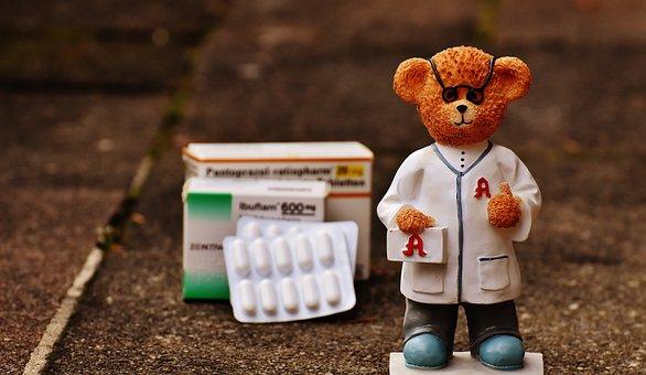 Bear, Profession, Pharmacist, Fig, Cute, Sweet, Funny