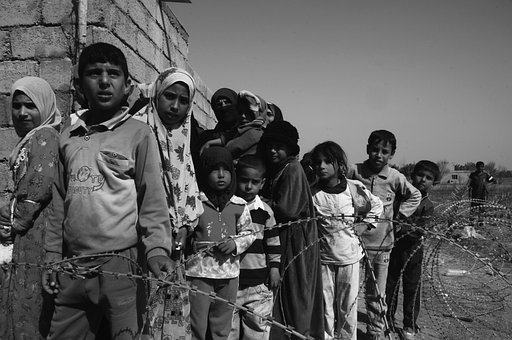 Children Of War, Hungry, Sadness, Waiting Line