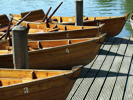 Wooden Boats, Wood, Boot, Web, Helm, Paddle
