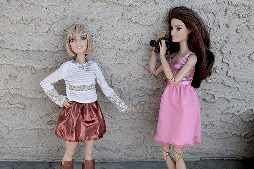 Barbie, Dolls, Toys, Filming, Film, Camera, Posing