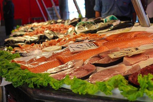 Market, Fish, Fish Market, Food, Frisch, Sea Animals