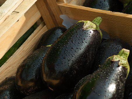 Eggplant, Market, Vegetables, Food, Vegetable Garden