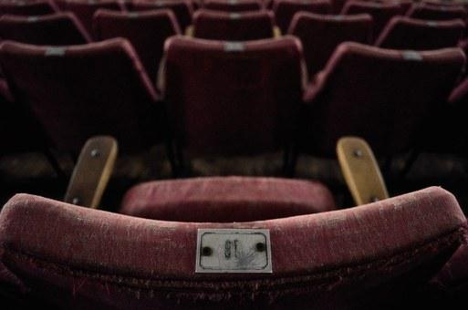 Cinema, Old, Chair, Spent, Horror, Burgundy, Movie
