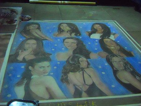 Street Painter, Woman Images, Half Naked, Obscene