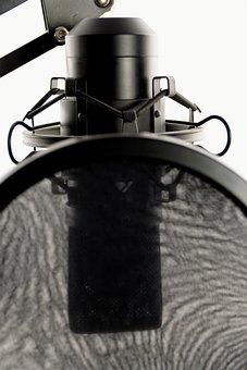 Studio, Microphone, Vocal Microphone, Audio, Recording