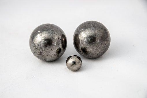 Metal, Balls, Bearings, Round, Silver, Steel