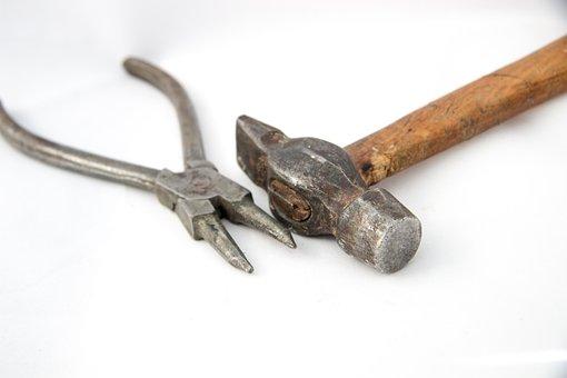 Hammer, Pound, Bob, Hammer In, Tools, Metal, Build