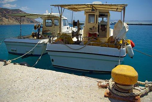 Ships, Sea, Boats, Fischer, Fishing Boat, Fish, Crete