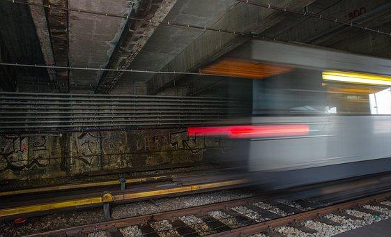 Metro, Speed, Underground, Tail Lights, Transport