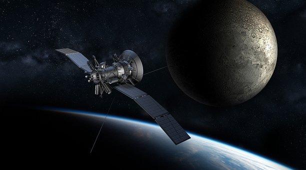 Satellite, Moon, Earth, Planet, Universe, Atmosphere
