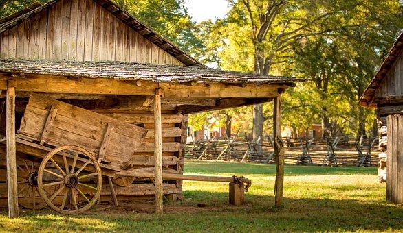 Historic, Log Building, Cabin, House, Old, Building