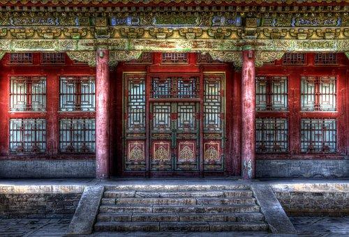 China, Forbidden City, Pekin, Door, Beijing