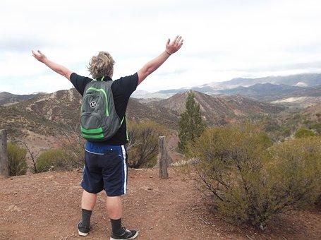 Hiker, Hiking, Happy, Peak, Top, Scenery, Mawson Trail