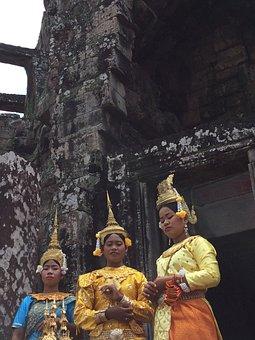 Dancers, Traditional, Female, Culture, Asia, Dress