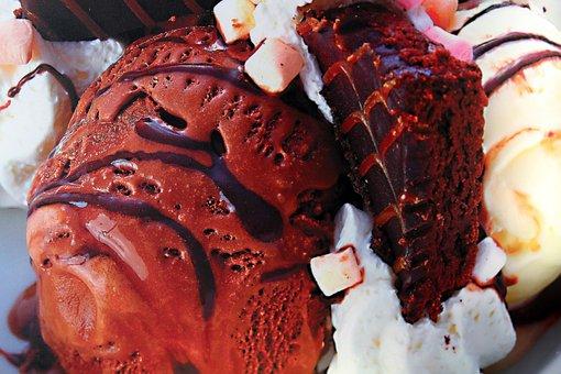 Ice Cream, Rocky Road, Chocolate, Marshmallows, Dessert