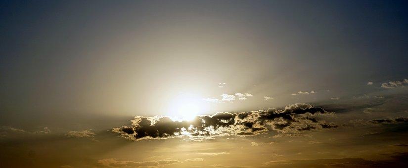 Sunbeams, Backlight, Ray Of Sunshine, Sky, Clouds