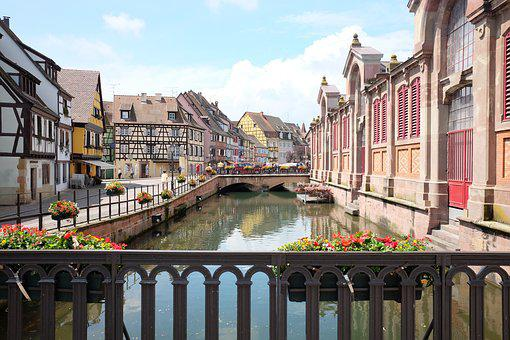 Colmar, France, City, Channel, View, Old Center