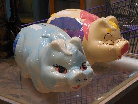 Piggy, Bank, Savings, Currency, Piggybank, Pig, Save