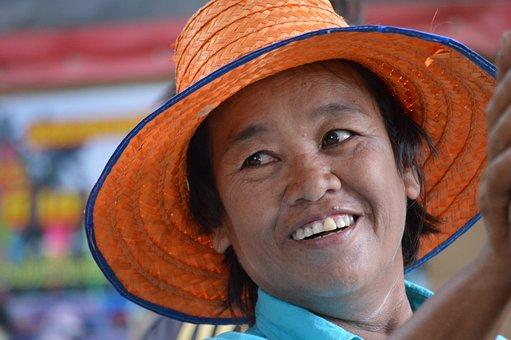 Peasant Woman, Portrait, Thailand, Human, Face