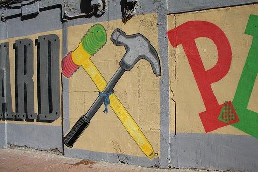 Graffiti, Urban Art, Hammer