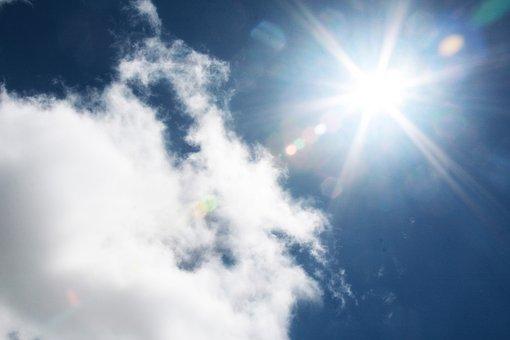 Sunburst, Sky, Cloud, Nature, Light, Cloudscape