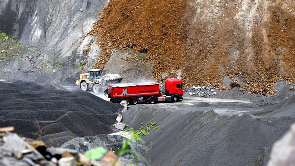 Quarry, Truck, Quarry Operation, Transport, Vehicle
