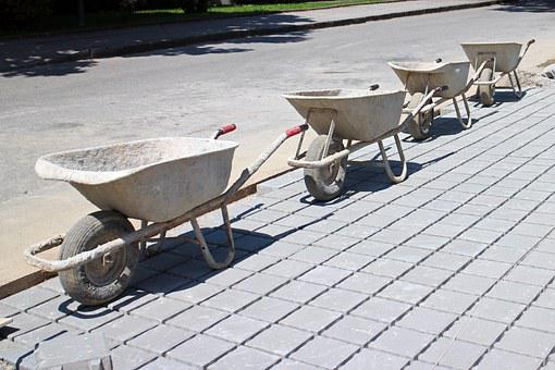 Construction Work, Wheelbarrow, Transport