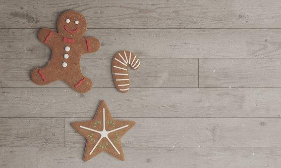 Cookies, Christmas Cookies, Gingerbread Man