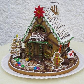 Gingerbread House, Christmas Pastries, Christmas