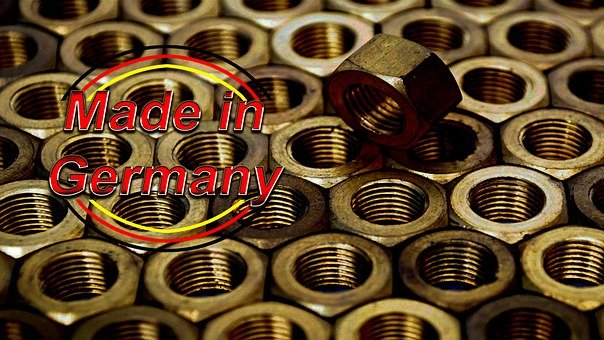 Made In Germany, Nuts, Stamp, Manufacturing, Production