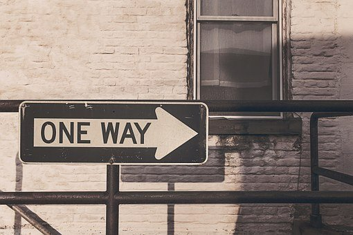One Way Street, Road Sign, Roadsign, One Way, Direction
