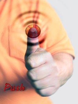 Push, Press, Button, Logging Out, Log, Login, Logout