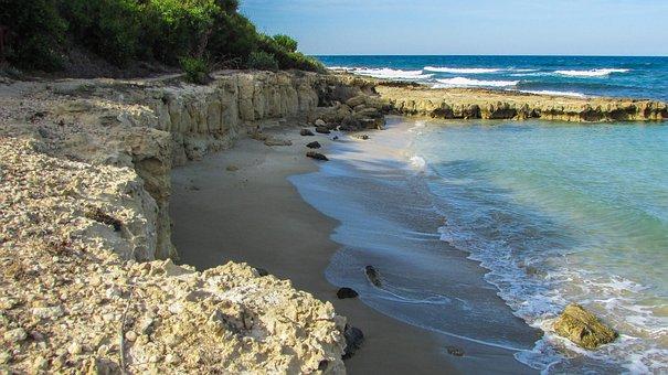 Cyprus, Protaras, Cove, Scenery, Sea, Coast, Sand