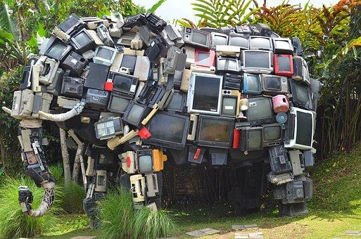 Elephant, Creative, Television, Modern Art, Exposition