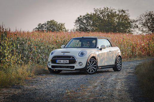 Mini, Convertible, Minicooper, Filed, Ountry Side, Auto
