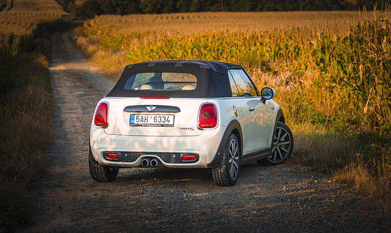 Mini, Convertible, Minicooper, Filed, Ountry Side