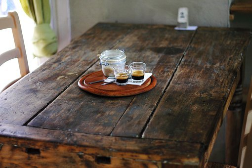Rustic, Table, Wooden, Coffee, Hospitality, Simple