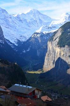 Swiss, Jungfrau, Lauterbrunnen, Icecap, Alps, Mountain