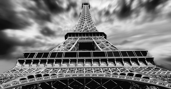 Eiffel Tower, Paris, City, History, Architecture, B W