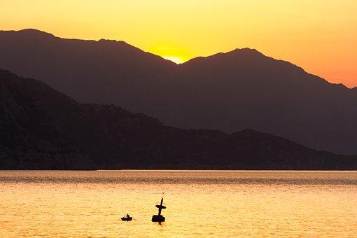 Sea, Sunrise, Mirroring, Sunrise On The Sea