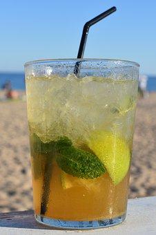 Mojito, Beach, Drink, Alcohol, Drinking, Straw