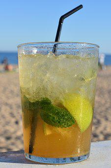Mojito, Beach, Drink, Alcohol, Drinking, Straw
