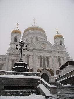 Cathedral, Christ, Saviour, Moscow, Religion