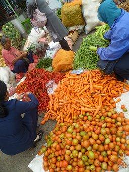 Fruit, Vegetables, Market, Food, Eat, Carrots, Trade