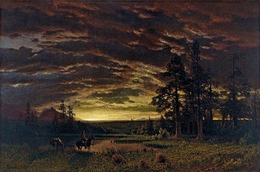 Albert Bierstadt, Painting, Art, Artistic, Artistry
