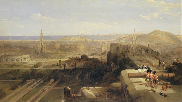 David Roberts, Landscape, Art, Artistic, Painting