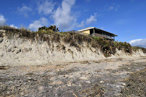 Beach Erosion, Hurricane Matthew, Damage, Destruction